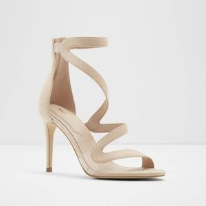 Aldo Beige/Cream Strappy Heels - Size 8